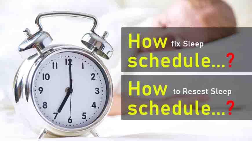 fix your sleep schedule