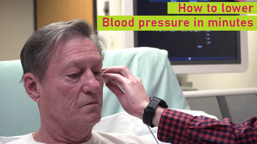 Lower blood pressure in minutes