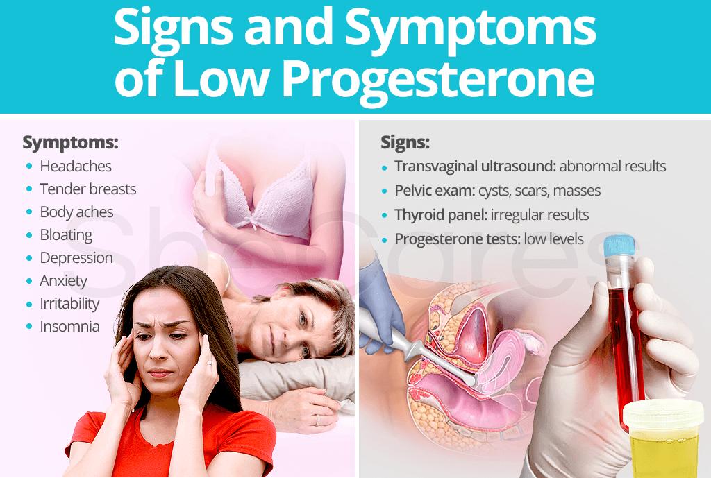 low levels of progesterone